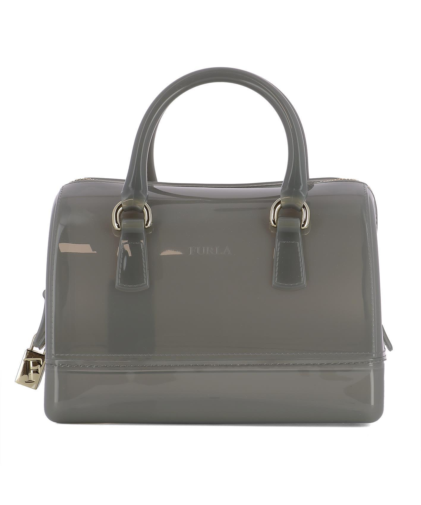 送料込 Grey Pvc Handle Bag バッグ