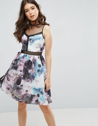 Little Mistress Printed Prom Dress With Lac エレガントドレス