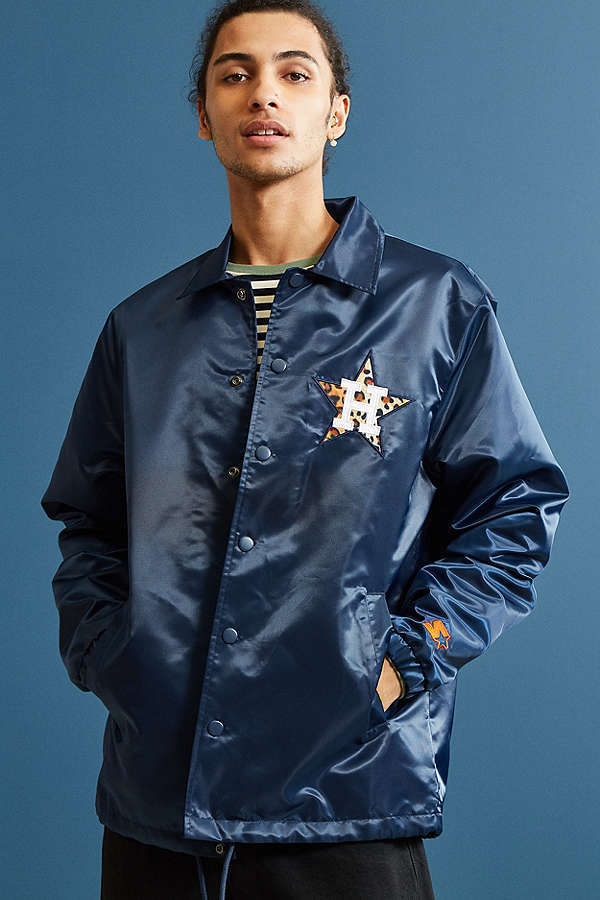 Starter Black Label + UO Houston Astros Cheetah Coach Jacket