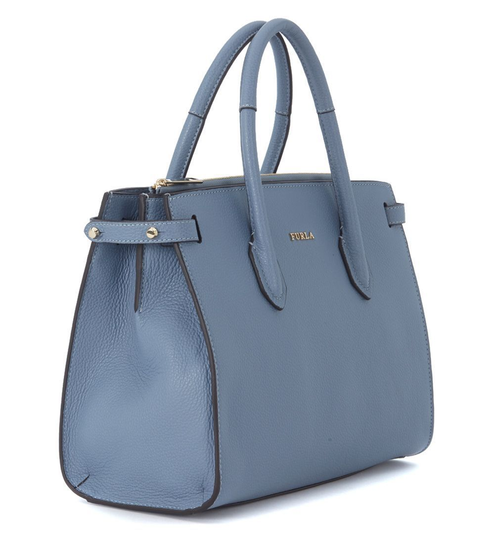 送料込 Furla Pin Light-blue Handbag バッグ