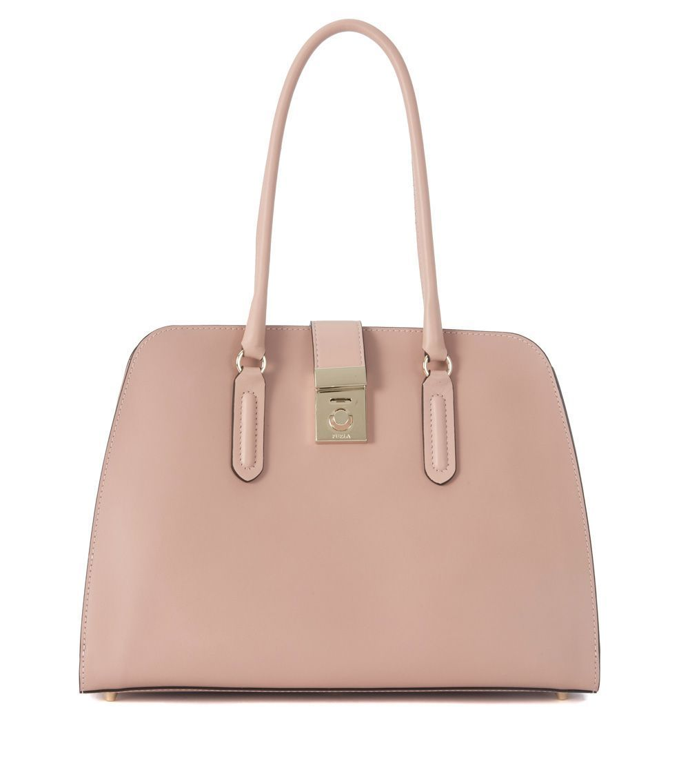 送料込 Furla Milan Pink Leather Shoulder Bag バッグ
