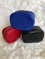 【即発3-5日着】TORY BURCH◆Stacked Patent SM Cosmetic Case