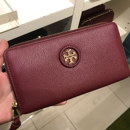 セール Tory Burch WHIPSTITCH LOGO ZIP CONTINENTAL 長財布★赤