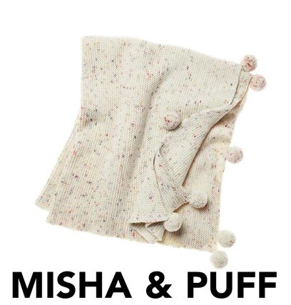 SALE2017AW【MISHA AND PUFF】HeirloomConfettiCakeブランケット