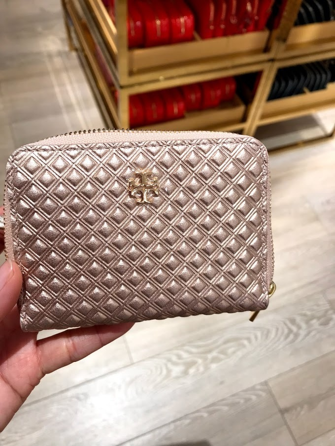 即発 TORY BURCH★MARION ZIP COIN CASE キーリング付き