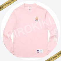 【17AW】Supreme Champion Stacked C L/S Tee ロンT Pink ピンク