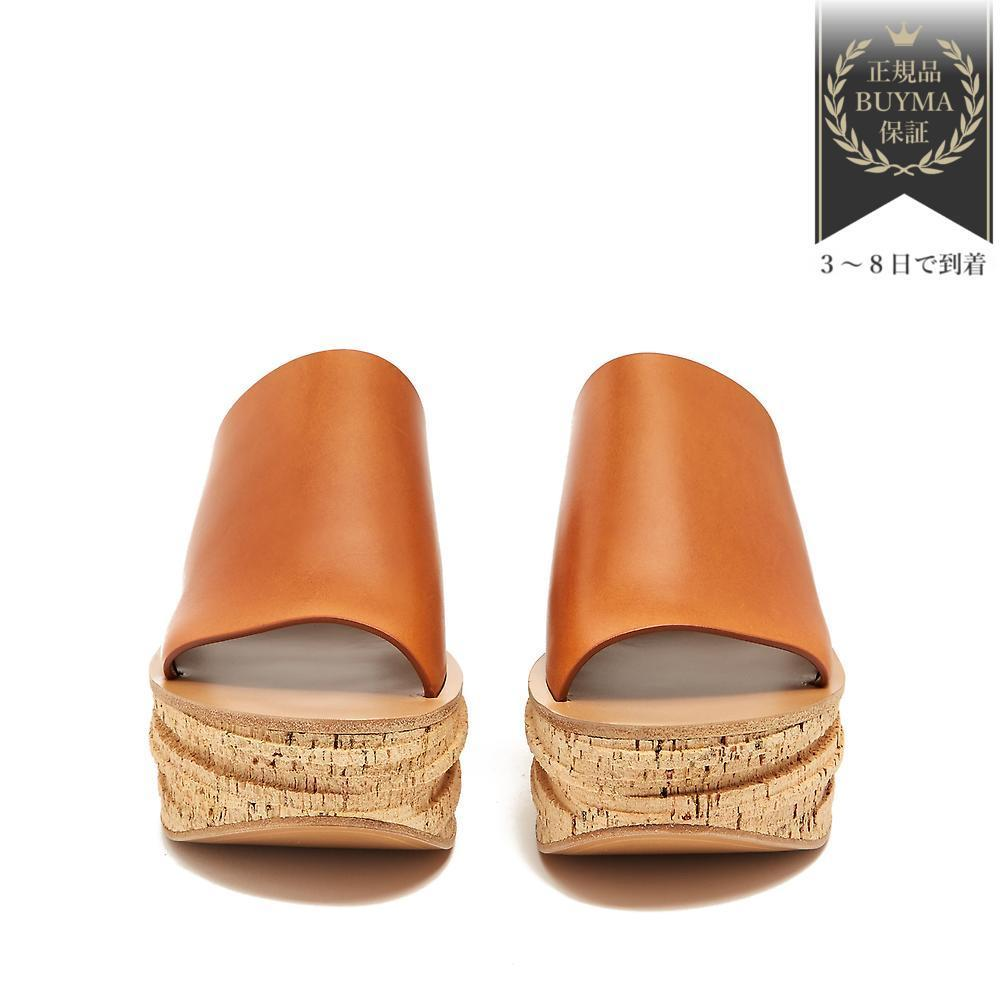 VIPSALE▼Camille レザーwedge ミュール