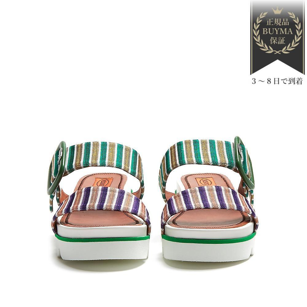 VIPSALE▼Stripedニットslip-on wedge サンダル