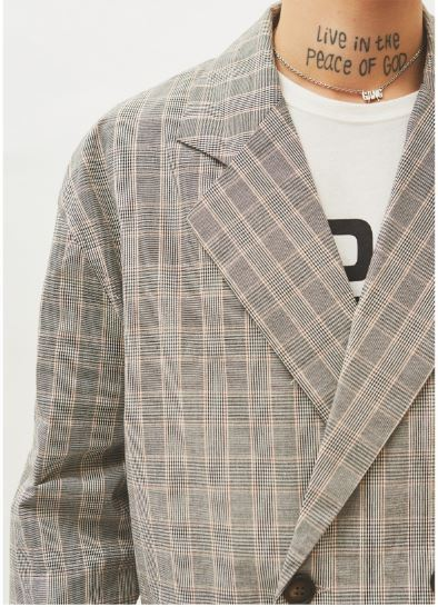 日本未入荷OPEN THE DOORのcheck double button jacket - UNISEX