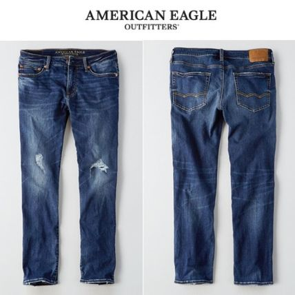 American Eagle Outfitters デニム・ジーパン [American Eagle Outfitters] Slim straght medium destroy