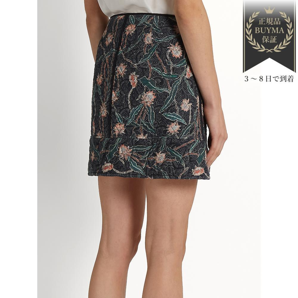 VIPSALE▼Prickly floral quilted-cotton スカート