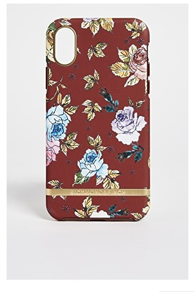 richmond&finch☆Red Floral IPhoneXケース