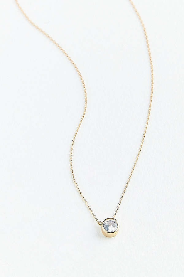 追跡・補償あり【宅配便】Cubic Zirconia Gemstone Necklace