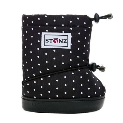 【 Toddler Booties & Linerz sets 】★Polka Dot Black & White