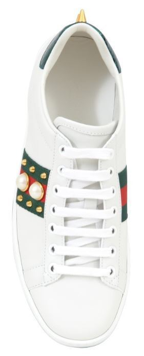 GUCCI Ace Leather Sneaker with Studs