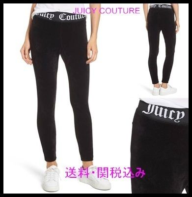 JUICY COUTURE ストレッチベロアレギンス ロゴ入 送料関税込み