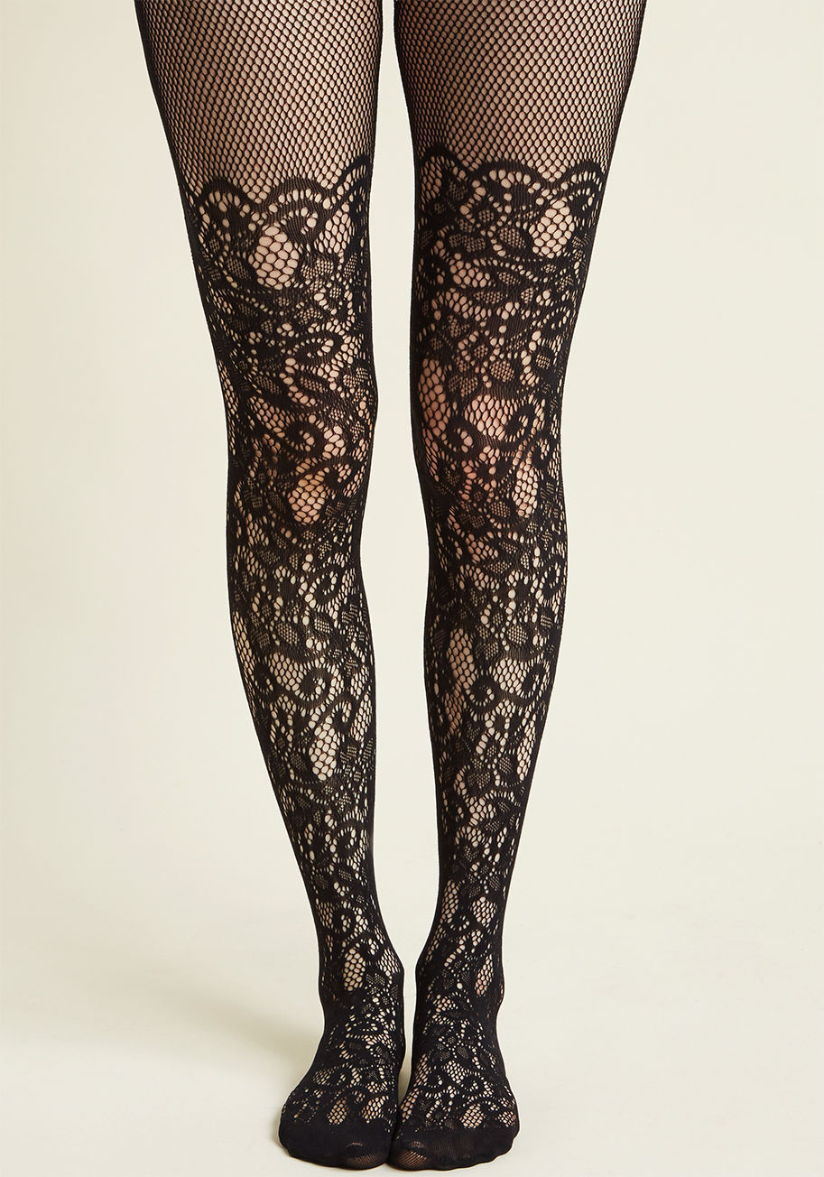 ◎送料込み◎ intricately exquisite tights in black