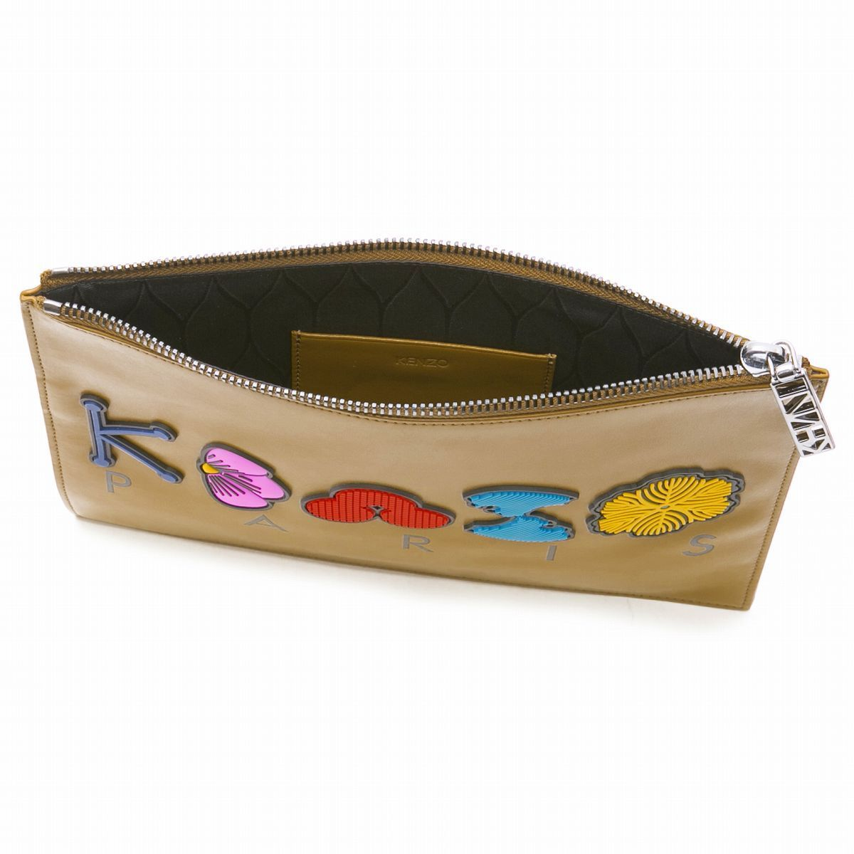 KENZO クラッチバッグ W'S POUCH YELLOW  2SA607L21 ケンゾー