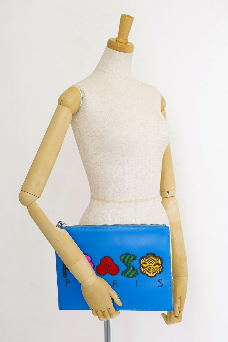 KENZO クラッチバッグ W'S POUCH BLUE 2SA607L21 ケンゾー