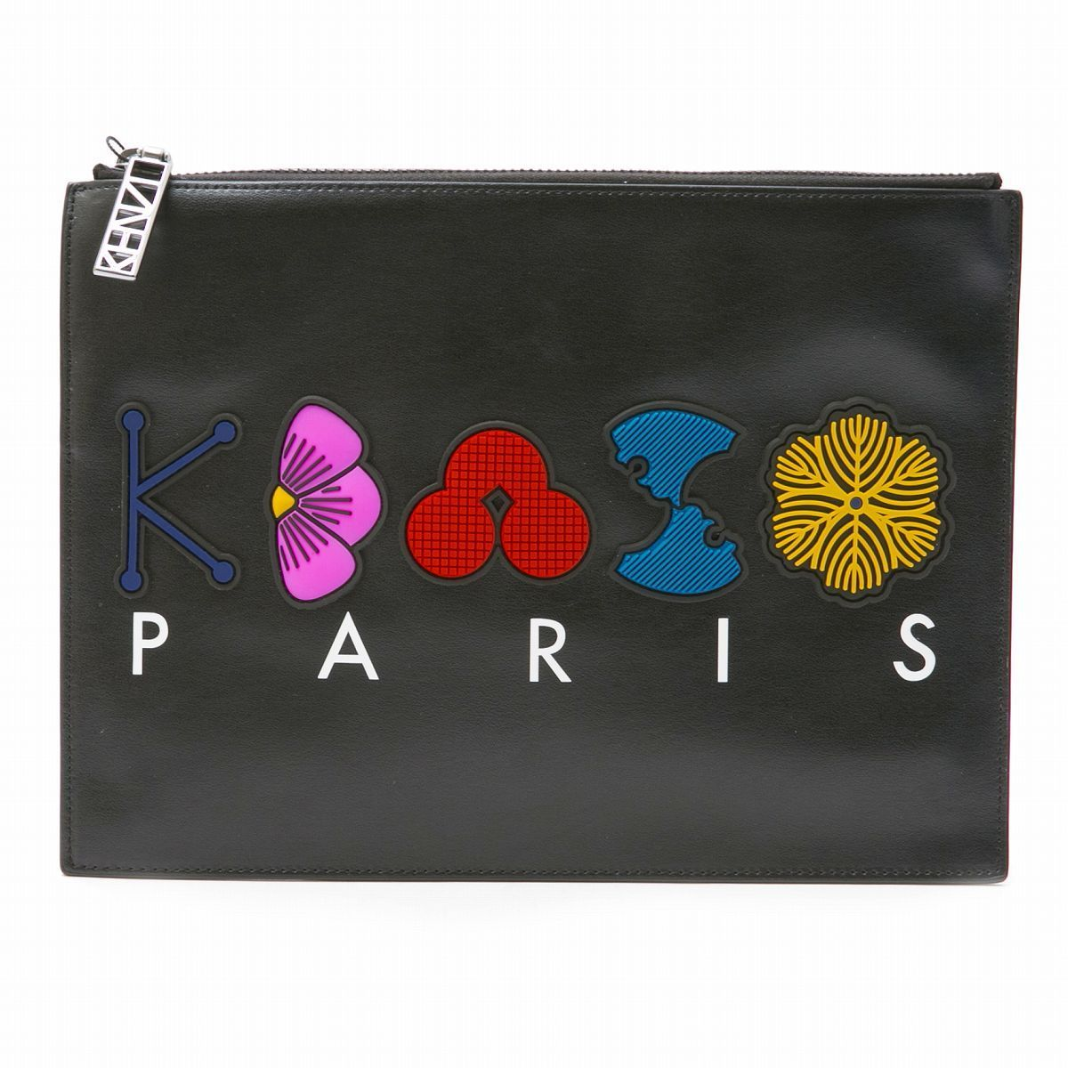 KENZO クラッチバッグ W'S POUCH BLACK 2SA607L21 ケンゾー