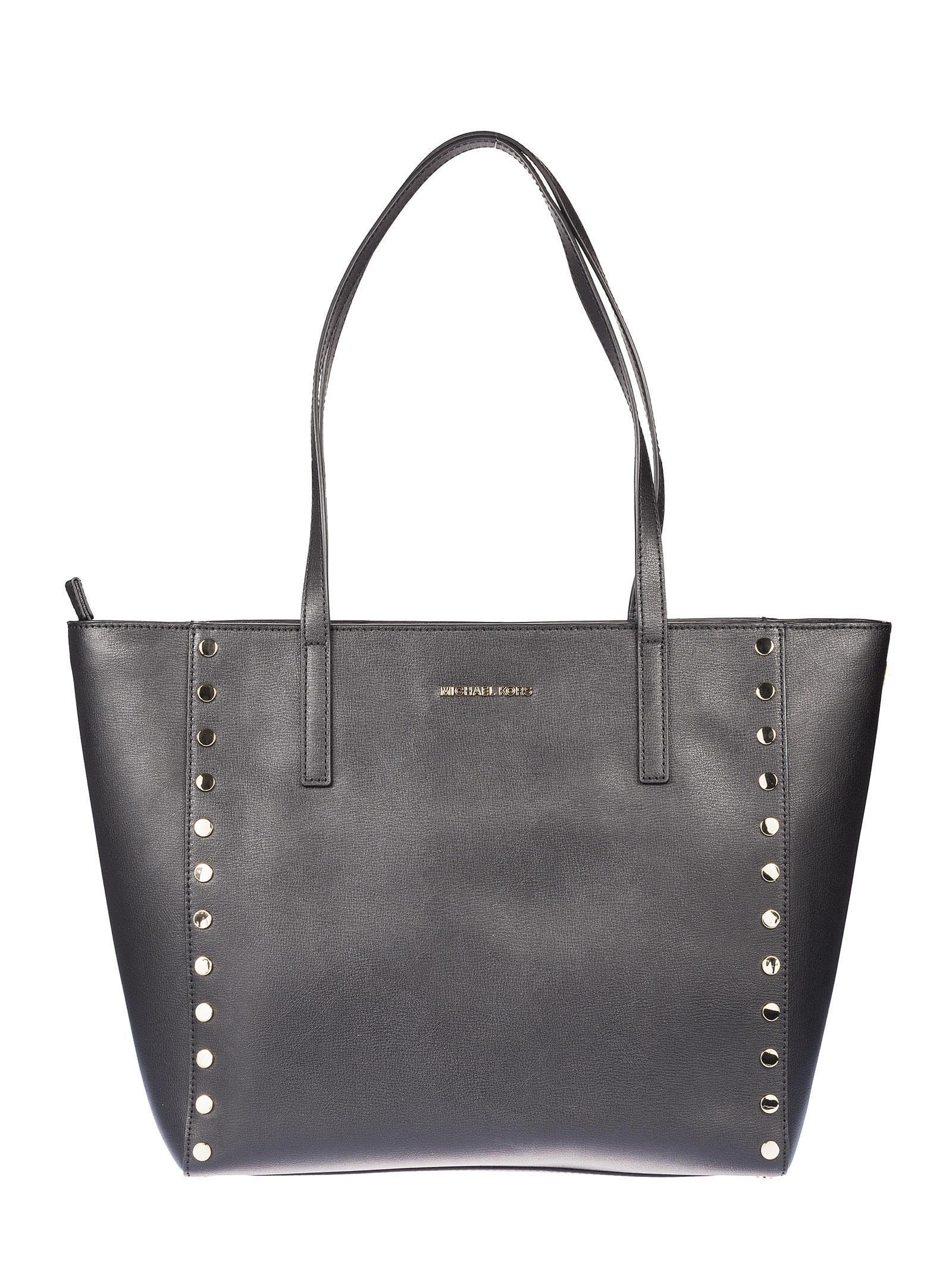 送料込 Michael Kors Rivington Large Studded Tote バッグ