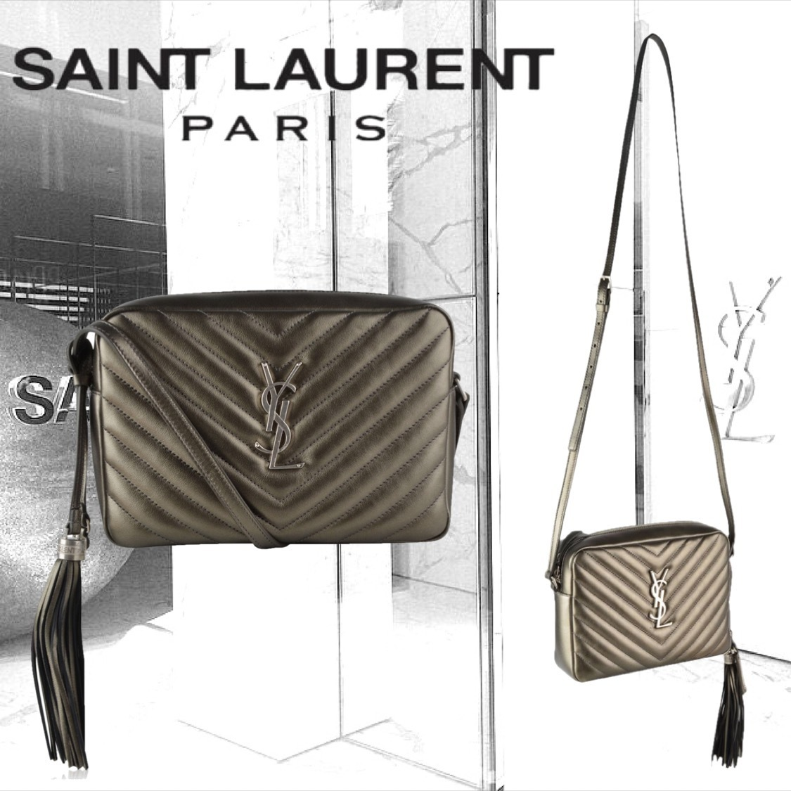 【SAINT LAURENT】LEATHER TASSEL HANDBAG ショルダーバッグ