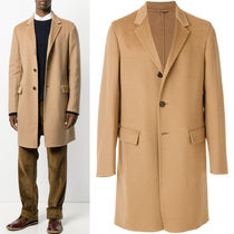 PRM075 CAMEL HAIR SINGLE BREASTED COAT