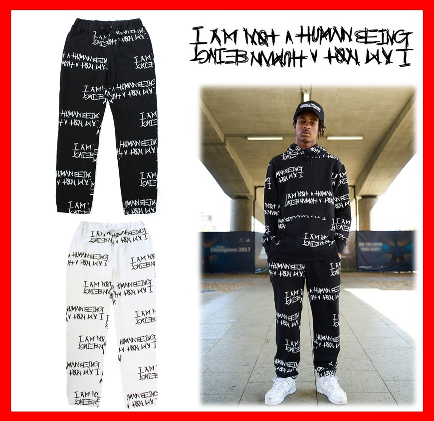 【I AM NOT A HUMAN BEING】★Basic Logo Pattern Sweat Pants☆