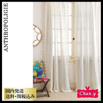 送料・関税込み☆Anthropologie Pom Tassel Curtain
