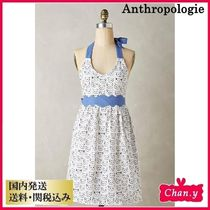 送料・関税込み☆Anthropologie Cat Study Apron グレー