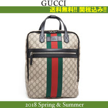 2018SS,関税込★GUCCI(グッチ)'GG SUPREME' PRINTED BACKPACK