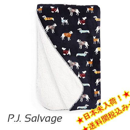 ★P.J. Salvage★Dogs Wearing Sweaters Blanket★ブランケット