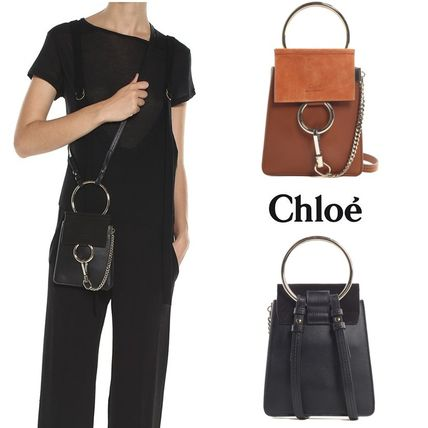 Chloe Faye Mini Suede and Leather Crossbody Bag ブレスレット