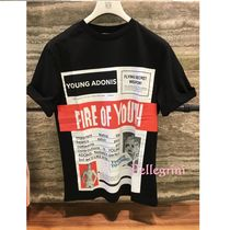 【LOEWE】新作◆国内完売◆Tシャツ  Fire Of Youth Poster 黒