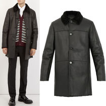 PRM086 SINGLE BREASTED MOUTON COAT