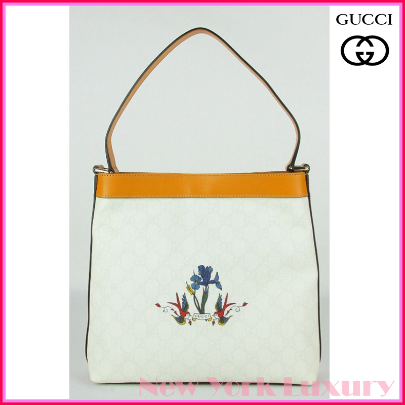 GUCCI★グッチ★素敵!GG Coated Canvas Tattoo Shoulder Bag