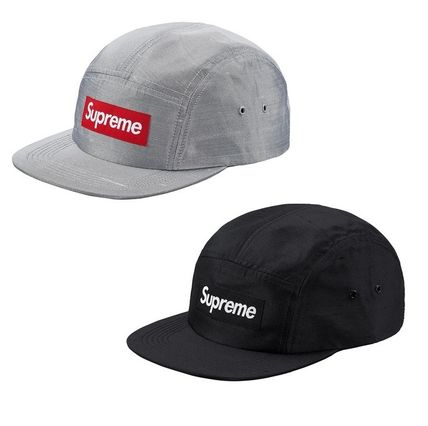 ★Supreme★Raw Silk Camp Cap【ブラック・シルバー】