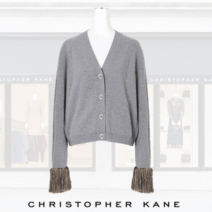 Christopher Kane Check Frineg Cardigan