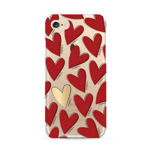 IPHORIA★iPhone 7/8ケース★Hearts Red