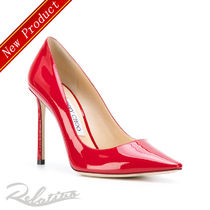 18SS【Jimmy Choo】Romy 100 パテント パンプス/Red