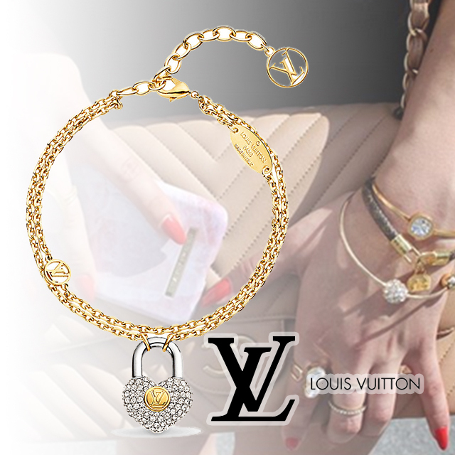 Louis Vuitton Crazy In Lock Strass Supple ブレスレット