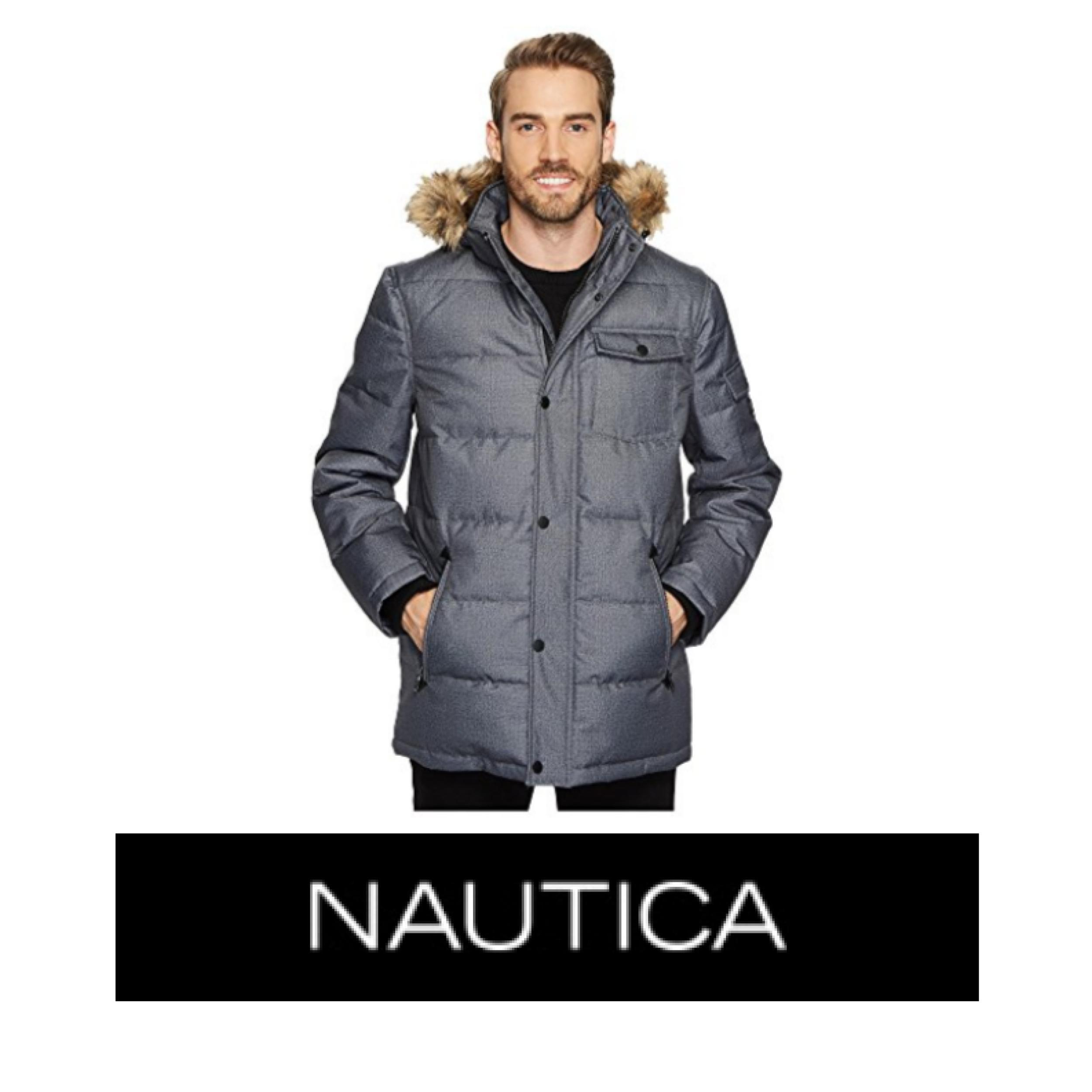 Nautica Poly Hooded Parka color Grey