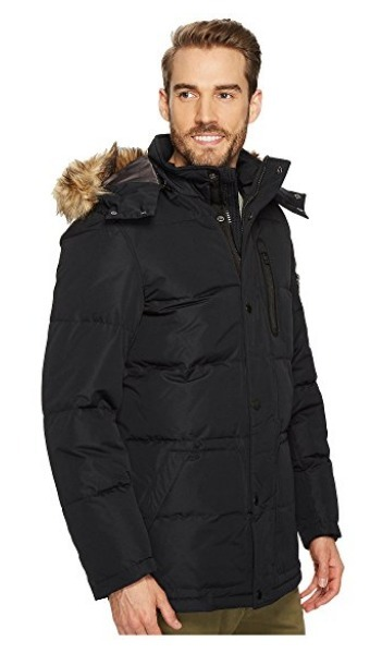 Nautica Poly Hooded Parka color Black