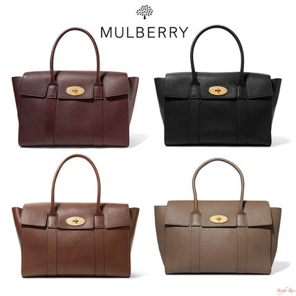 Mulberry The Bayswater テクスチャードレザー トートバッグ