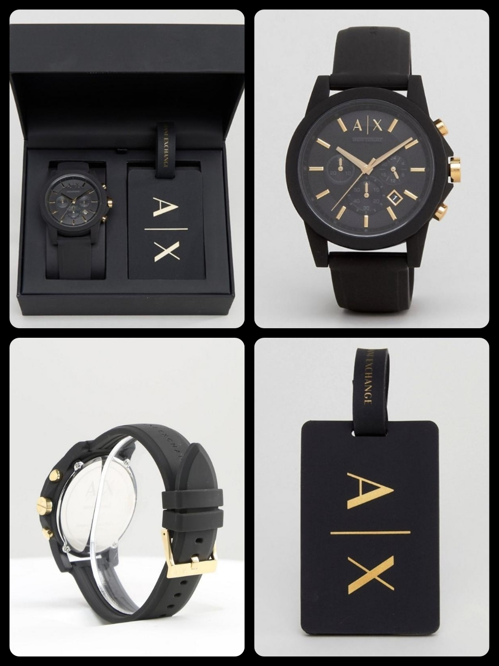 Armani Exchange AX7105 Leather Watch シリコン 関税・送料込