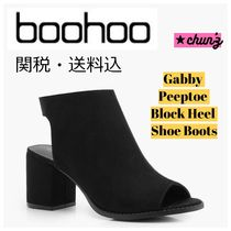 関送込 Gabby Peeptoe Block Heel Shoe Boot ブーツ