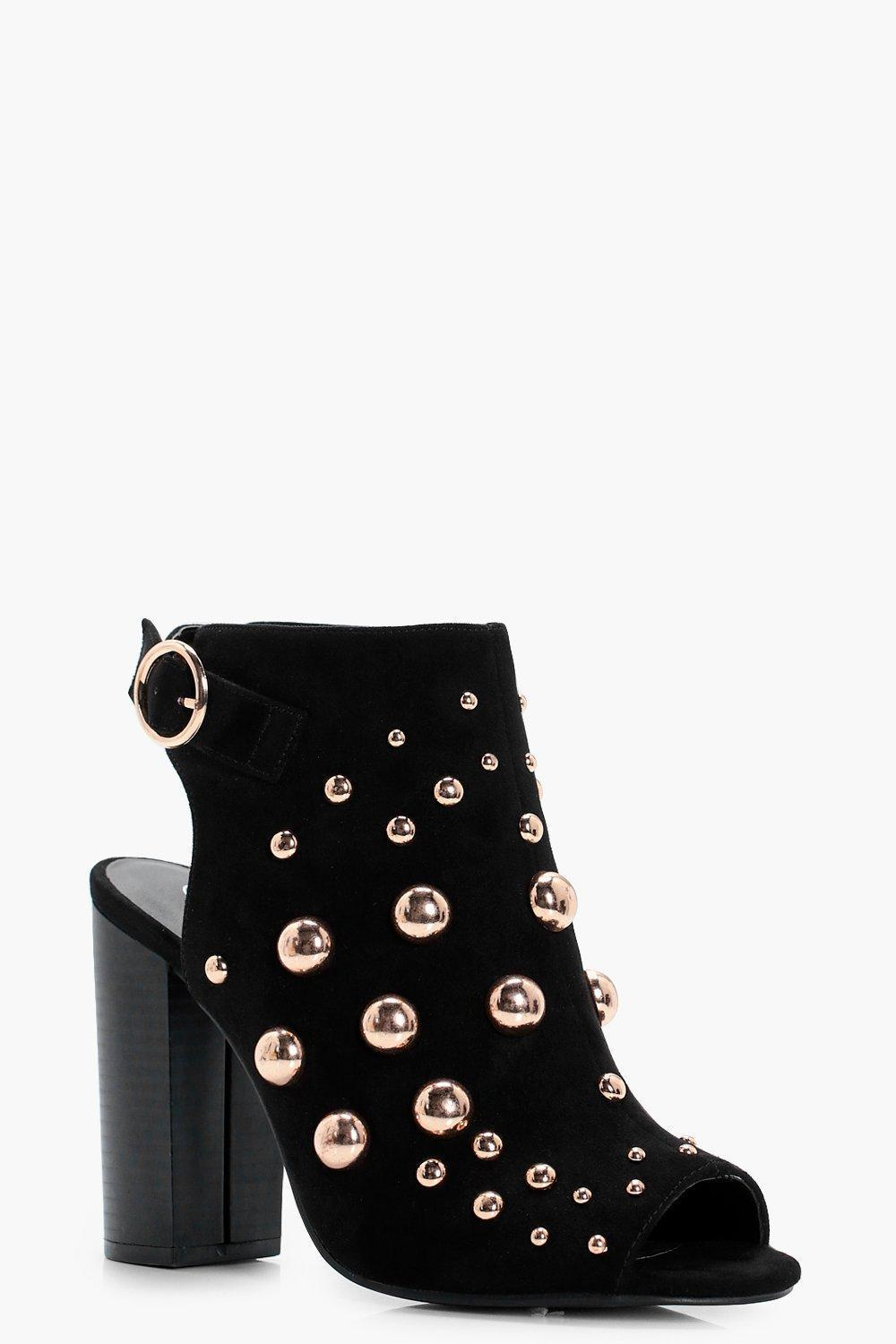 関送込 Ivy Oversized Stud Embellished Shoe Boot ブーツ