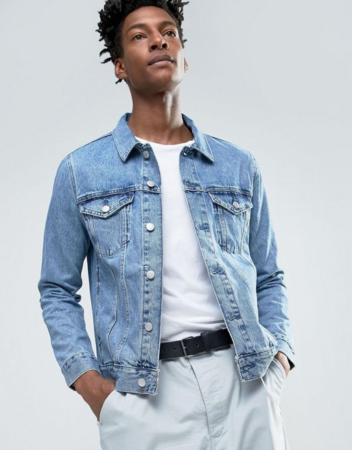 残り僅か♪Weekday Single Denim Jacket WD Blue M ウィークデイ