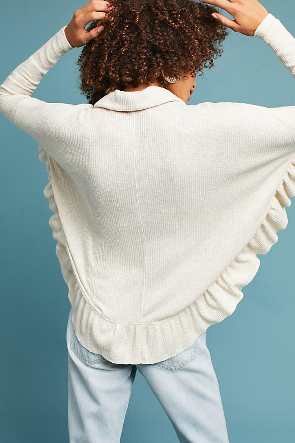 ★送料無料★Shine Ruffled Cowl Neck Pullover★日本未入荷★