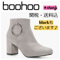 関送込 Marie O Ring Detail Block Heel Shoe Boot ブーツ